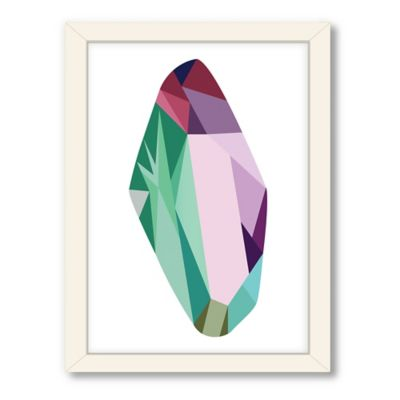 Americanflat Urban Road Collection Geometric Gemstone 9 Framed Art Work