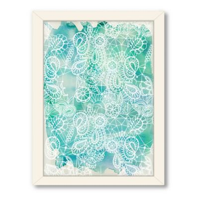 Americanflat Urban Road Collection Lace Aqua Framed Art Work
