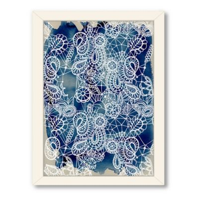 Americanflat Urban Road Collection Lace Cobalt Framed Art Work