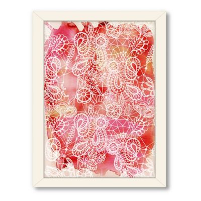 Americanflat Urban Road Collection Lace Red Framed Art Work