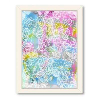 Americanflat Urban Road Collection Lace Reverse Pink Framed Art Work