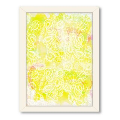 Americanflat Urban Road Collection Lace Yellow Framed Art Work