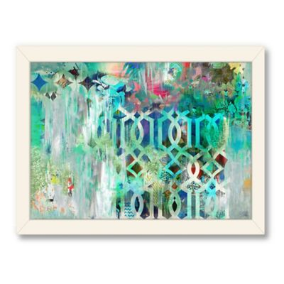 Americanflat Urban Road Collection Tribal Aqua Framed Art Work