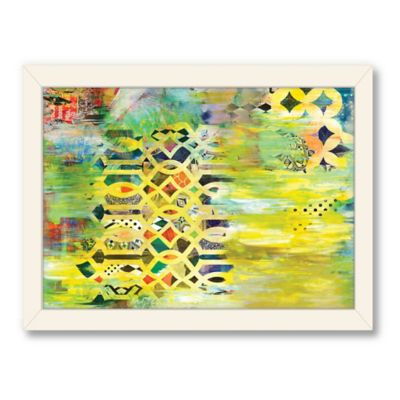 Americanflat Urban Road Collection Tribal Window Yellow Framed Art Work