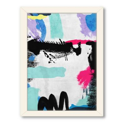Americanflat Urban Road Collection Abstract Art 13 Framed Art Work