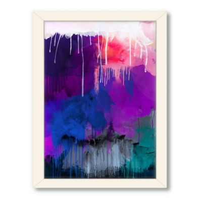 Americanflat Urban Road Collection Abstract Art 17 Framed Art Work