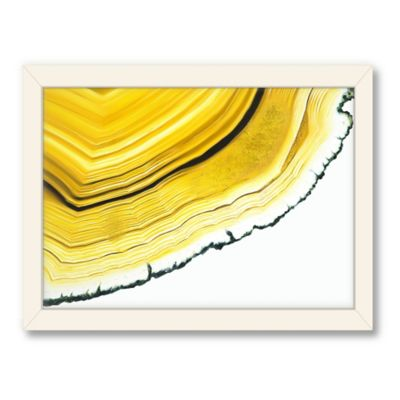 Americanflat Urban Road Collection Agate Section Yellow Framed Art Work