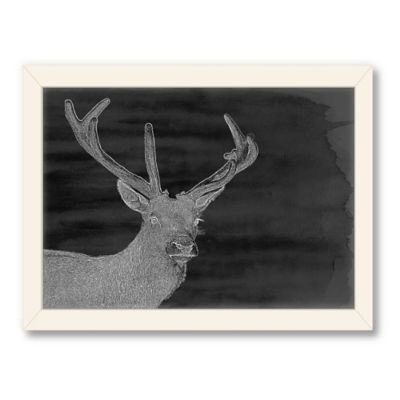 Americanflat Urban Road Collection Charcoal Deer Framed Art Work