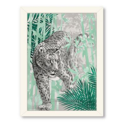 Americanflat Urban Road Collection Leopard Framed Wall Art