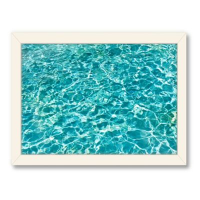 Americanflat Urban Road Collection Pool Side Framed Leaf Print