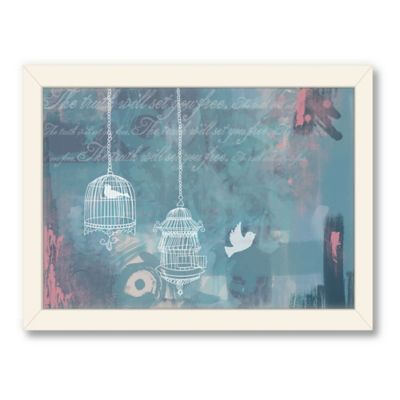 Americanflat Urban Road Collection The Truth Navy Framed Art Work