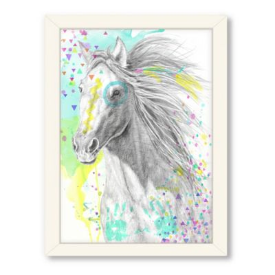 Americanflat Urban Road Collection War Pony Framed Art Work