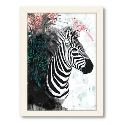 Americanflat Urban Road Collection Zebra Love Framed Art Work