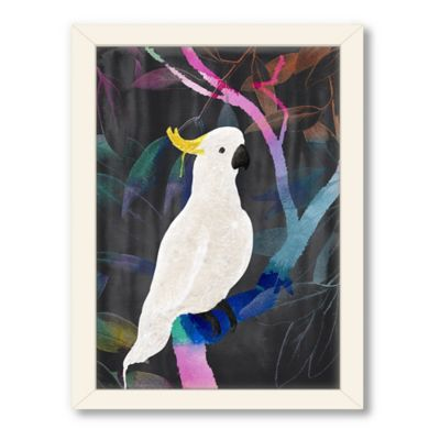 Americanflat Urban Road Collection Cockatoo Rainbow Framed Art Work