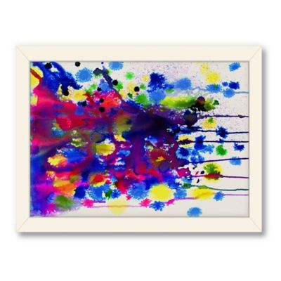 Americanflat Urban Road Collection Colour Bomb Landscape Framed Art Work