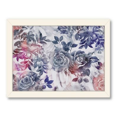 Americanflat Urban Road Collection Flowers Grey Framed Art Work