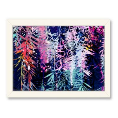 Americanflat Urban Road Collection Bottle Brush Navy Framed Art Work
