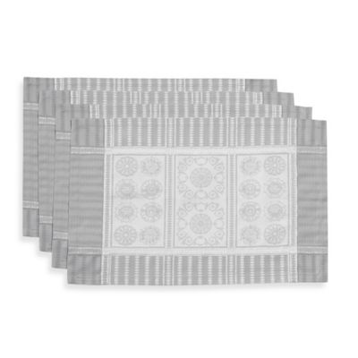 Garnier-Thiebaut Tuileries Placemats in Silver (Set of 4)
