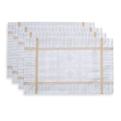 Garnier-Thiebaut Tuileries Placemats in Gold (Set of 4)