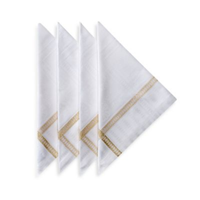Garnier-Thiebaut Tuileries Napkins in Gold (Set of 4)