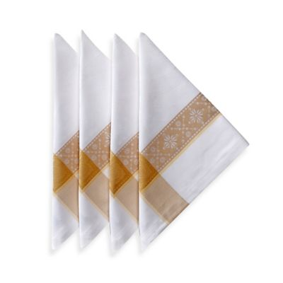 Garnier-Thiebaut Imperatrice Napkins in Gold (Set of 4)