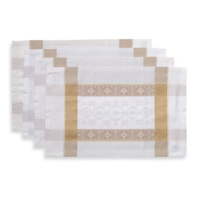 Garnier-Thiebaut Imperatrice Placemats in Gold (Set of 4)