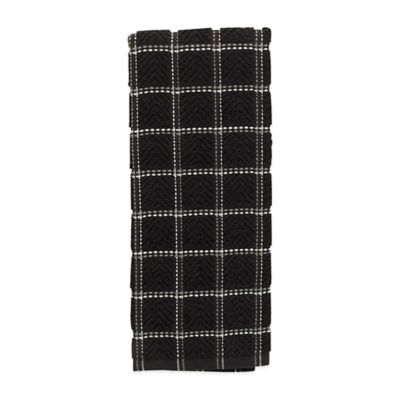 Solid Kitchen Towel in Black