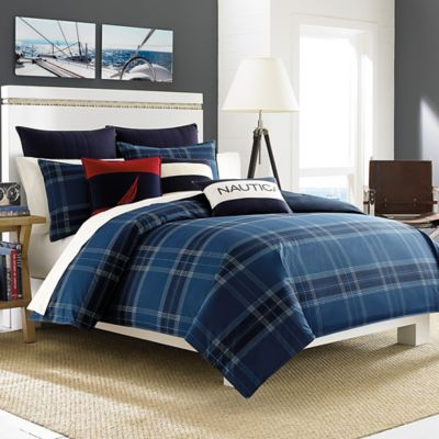 Nautica® Akeley Twin Duvet Cover Set in Blue/Multi