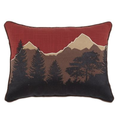 Croscill® Wagner Landscape Boudoir Throw Pillow in Paprika