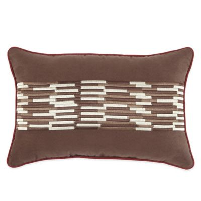 Croscill® Wagner Embroidered Boudoir Throw Pillow in Chocolate