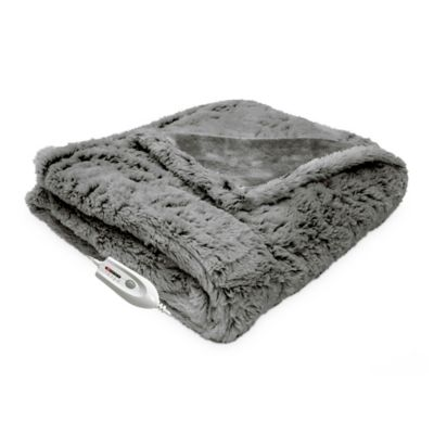 Grey Heated Throw