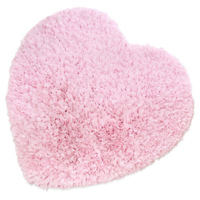 Glenna Jean Bella & Friends 3-Foot x 3-Foot Heart Rug in Pink
