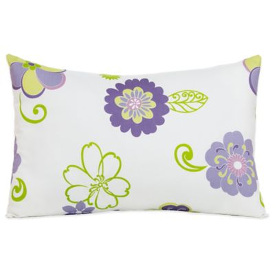 Glenna Jean Lulu Small Pillow Sham in White/Lavender Multi