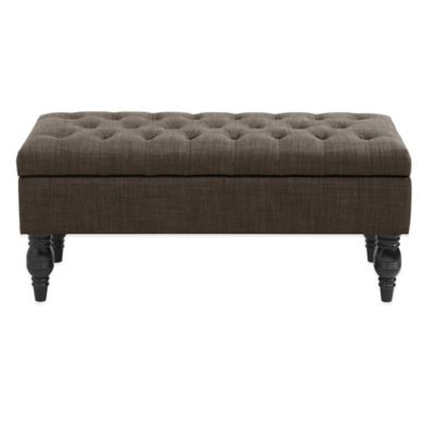 Madison Park Luxe Bench in Charcoal