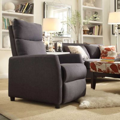 Verona Home Hester Contemporary Recliner in Dark Grey