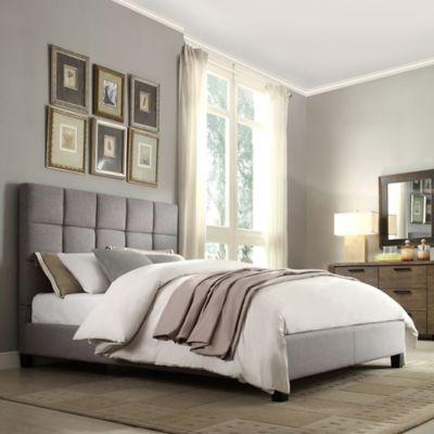 Quinn Queen Bed in Grey
