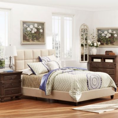 Verona Home Quinn Platform Full Bed in Oatmeal