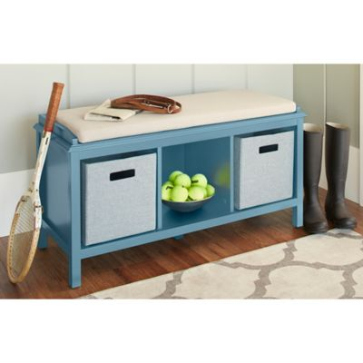 Chatham House Baldwin Entryway Bench in Blue