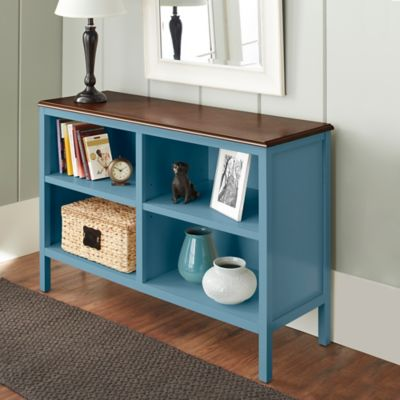 Chatham House Baldwin Horizontal Bookcase in Blue