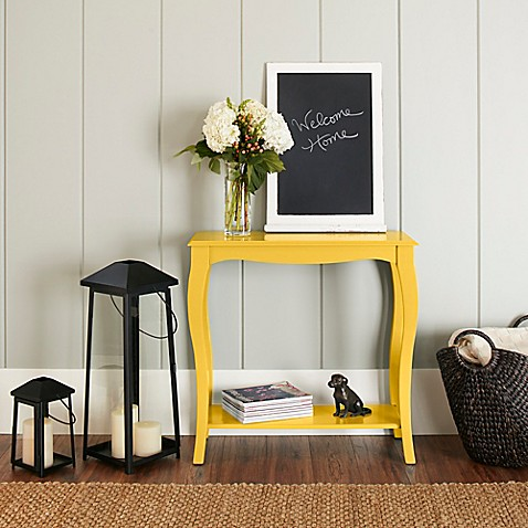 Buy chatham house helena console table in yellow from bed for Sofa table yellow