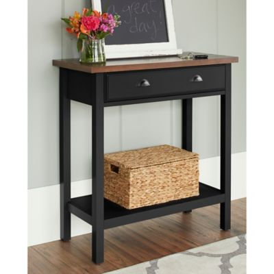Chatham House Newport Console Table with Drawer in Black