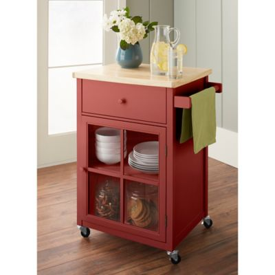 Chatham House Baldwin Kitchen Cart in Red