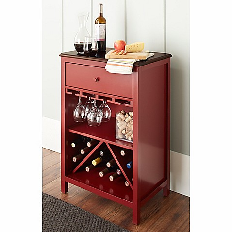 Chatham House Baldwin Wine Cabinet In Red Www