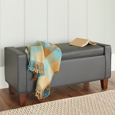 Chatham House Streeter Storage Ottoman in Grey