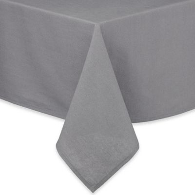 Pre-Washed 60-Inch x 102-Inch Oblong Cotton/Linen Tablecloth in Grey