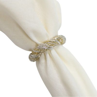 Beaded Twist Napkin Ring