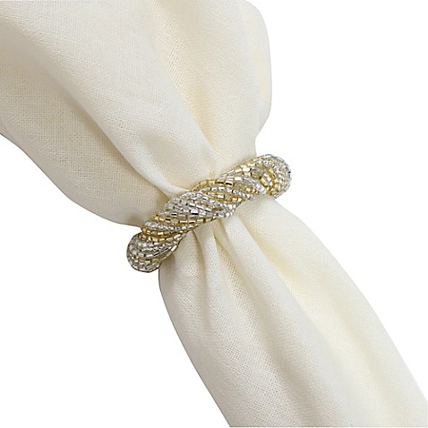 beaded twist napkin ring bed bath beyond