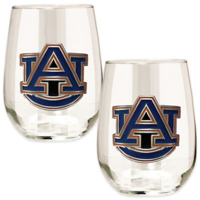 Auburn University Stemless Wine Glass (Set of 2)