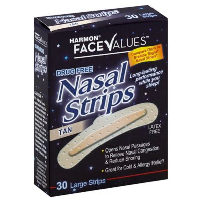 Nasal Strips 30-Count Large Strips in Tan