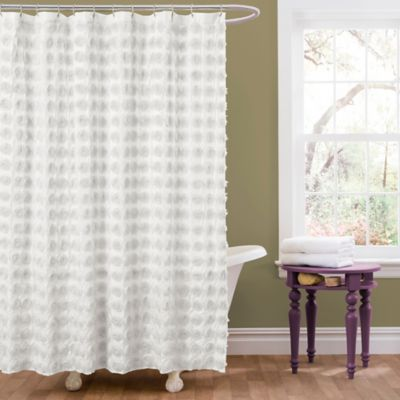 Gray and White Shower Curtains